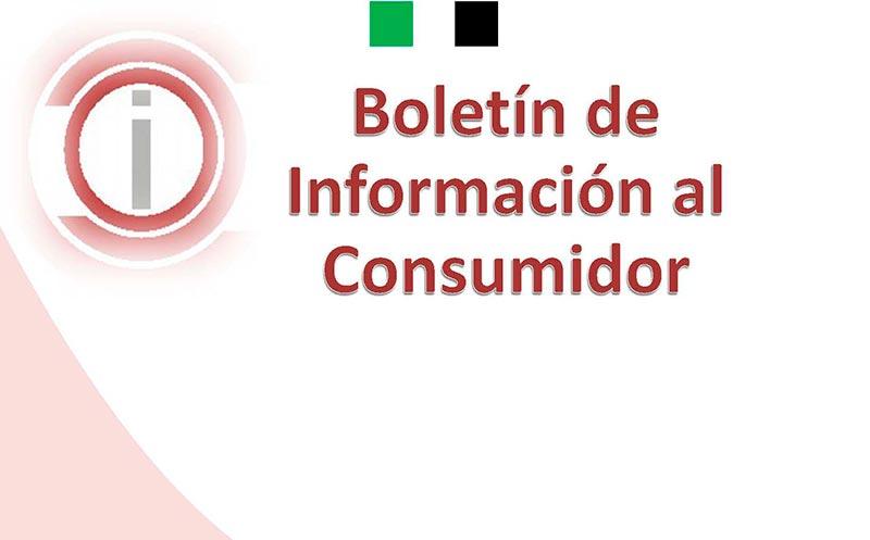 Boletín de Información al Consumidor del mes de Abril 2021